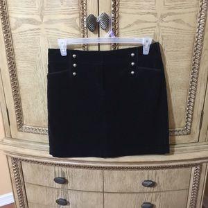 White House Black Market Velvet Skirt